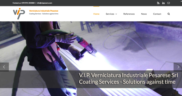 V.I.P. Srl website redesign