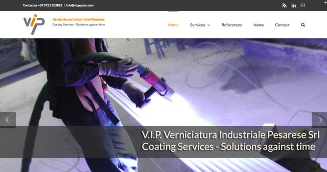 V.I.P. Srl website redesign
